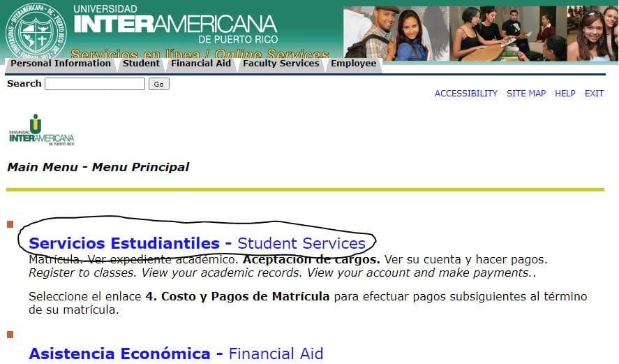 Servicios Estudiantes